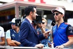 Pierre Gasly, Toro Rosso, est interviewé