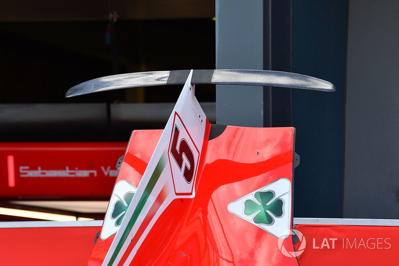 Ferrari SF71H rear bodywork detail