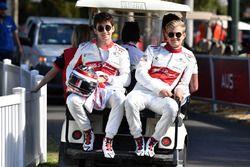 Charles Leclerc, Sauber F1 Team ve Marcus Ericsson, Sauber F1 Team
