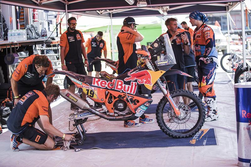 Red Bull KTM Factory Team area
