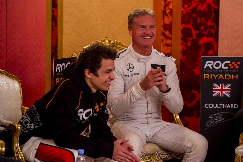 David Coulthard y Lando Norris