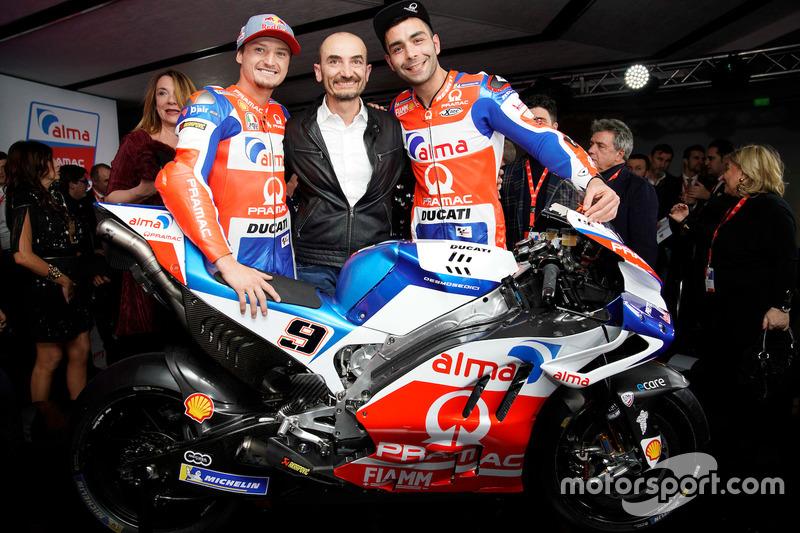 Jack Miller, Pramac Racing, Claudio Domenicali e Danilo Petrucci, Pramac Racing