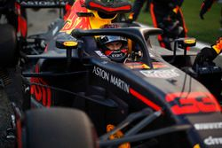 Max Verstappen, Red Bull Racing RB14 in griglia