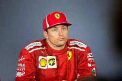 Kimi Raikkonen, Ferrari en la conferencia de prensa