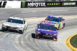 Denny Hamlin, Joe Gibbs Racing, Toyota Camry FedEx Ground, Gray Gaulding, BK Racing, Toyota Camry Earthwater, Kyle Busch, Joe Gibbs Racing, Toyota Camry M&M's Caramel