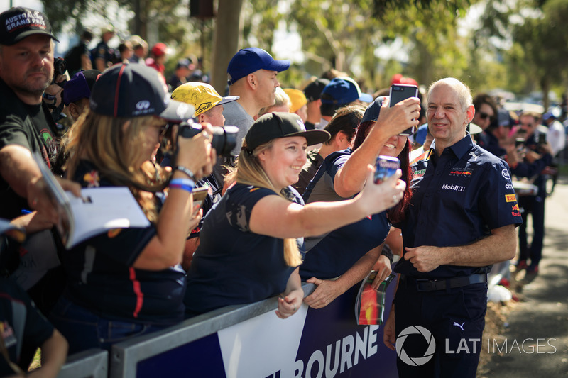 Adrian Newey, Red Bull Racing taraftarlar ile