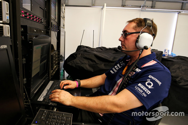 Paul Bendrey, Trackside IT Analyst at Sahara Force India