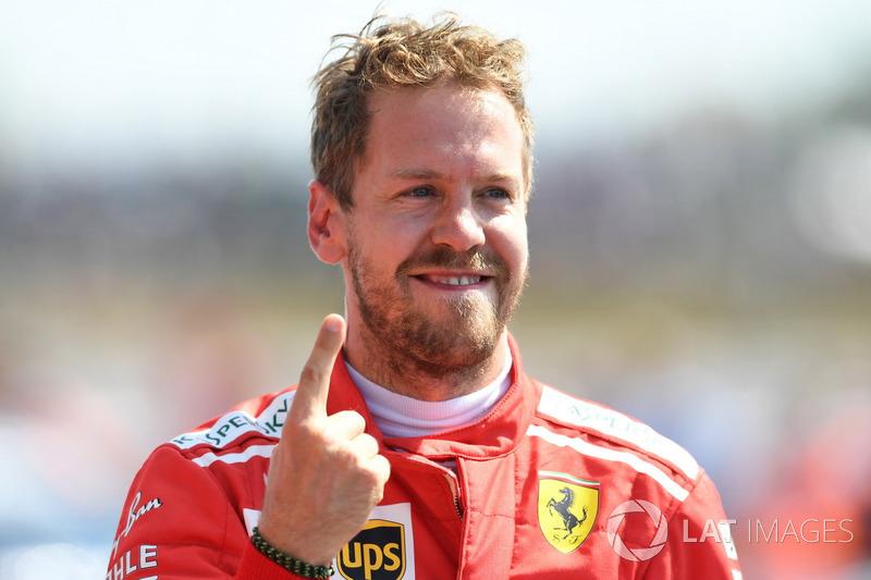 Ganador Sebastian Vettel, Ferrari SF71H,
