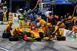 Ryan Hunter-Reay, Andretti Autosport Honda au stand
