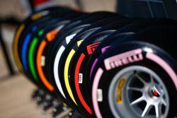 Neumáticos Pirelli codificados por color