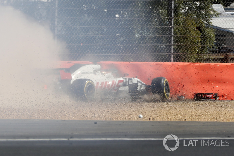 Crash de Romain Grosjean, Haas F1 Team VF-18