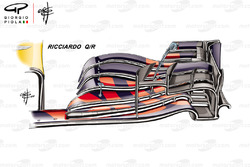 Red Bull Racing RB14 front wing Daniel Ricciardo Q/R