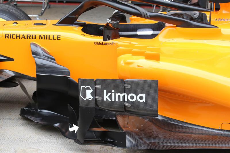 Déflecteurs de pontons de la McLaren MCL33