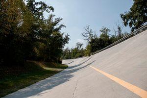 Alte Steilkurve in Monza