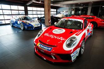 Le Porsche GT3 Cup di Francesco De Luca e Giovanni Berton, AB Racing, con le livree storiche