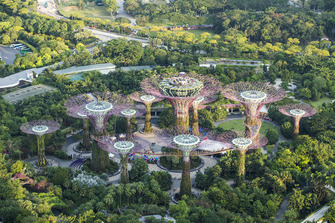 The Gardens By The Bay nature park, near the Marina Bay Formula 1 street circuit