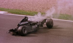 Mika Salo, Arrows A19, crasht