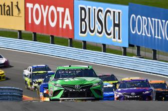 Kyle Busch, Joe Gibbs Racing, Toyota Camry M&M's Flavor Vote Winner, Denny Hamlin, Joe Gibbs Racing, Toyota Camry FedEx Ground
