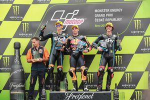 Podio: segundo puesto Luca Marini, Sky Racing Team VR46, ganador de la carrera Miguel Oliveira, Red Bull KTM Ajo, tercer puesto Francesco Bagnaia, Sky Racing Team VR46