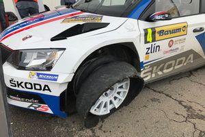 Прокол: Ян Копецкий и Павел Дреслер, Škoda Fabia R5, Škoda Motorsport