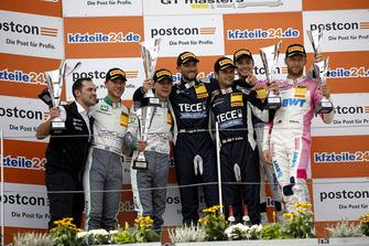 Podium: Race winner #11 EFP by TECE Audi R8 LMS: Elia Erhart, Pierre Kaffer, second place #28 Montaplast by Land-Motorsport Audi R8 LMS: Sheldon van der Linde, Kelvin van der Linde, third place #26 BWT Mücke Motorsport Audi R8 LMS: Jeffrey Schmidt, Stefan Mücke