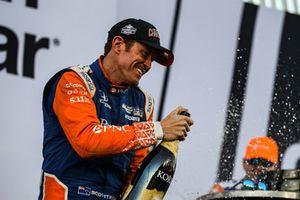 Campeón Scott Dixon celebra, Chip Ganassi Racing Honda