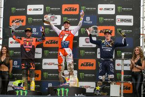 Podio: Jeffrey Herlings, Red Bull KTM Factory Racing, Tony Cairoli, Red Bull KTM Factory Racing y Max Anstie, Rockstar Energy Husqvarna