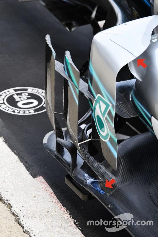 Un déflecteur de la Mercedes-AMG F1 W09