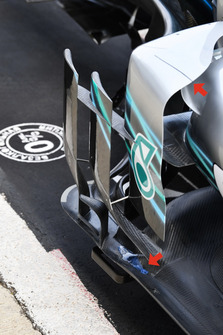 Mercedes-AMG F1 W09, barge board