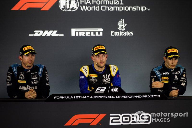 Luca Ghiotto, UNI Virtuosi Racing Nicholas Latifi, Dams y Sergio Sette Camara, Dams