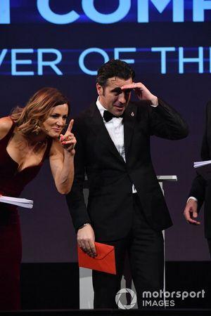 Dario Franchitti con Natalie Pinkham, Sky TV