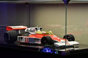 McLaren M23 model on display