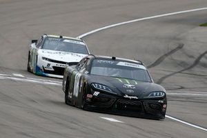 Riley Herbst, Joe Gibbs Racing, Toyota Supra Monster and Justin Haley, Kaulig Racing, Chevrolet Camaro LeafFilter Gutter Protection