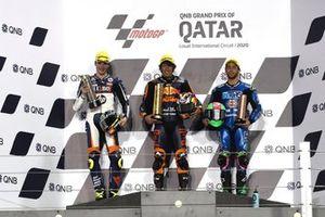 Podium: Aki Ajo, Lorenzo Baldassarri, Pons HP40, Tetsuta Nagashima, Red Bull KTM Ajo, Enea Bastianini, Italtrans Racing Team
