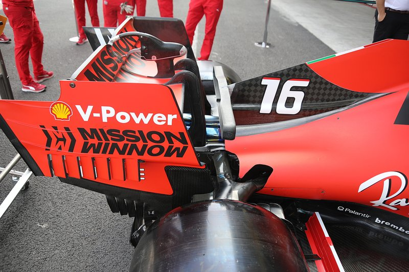 Ferrari SF90, rear wing