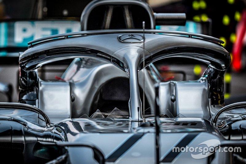 Mercedes AMG F1 W10 halo detail