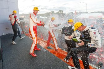 Podium: winners Scott McLaughlin, Alexandre Prémat, DJR Team Penske, second place Shane Van Gisbergen, Garth Tander Triple Eight Race Engineering, third place James Courtney, Jack Perkins, Walkinshaw Andretti United