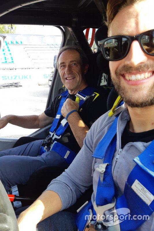 Gigi Pirollo e Francesco Corghi, giornalista, Motorsport.com Italia