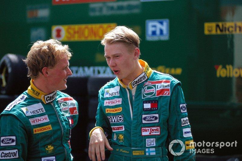 Johnny Herbert y Mika Hakkinen, Lotus