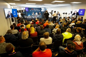 The 2021 Formula 1 technical regulations are announced, Jean Todt, President, FIA, Ross Brawn, Managing Director of Motorsports, FOM, Nikolas Tombazis, and Chase Carey, Chairman, Formula 1
