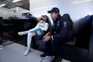 Lewis Hamilton, Mercedes AMG F1, and Esteban Gutierrez, Mercedes AMG F1