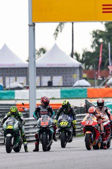 Marc Marquez, Repsol Honda Team, prova la partenza