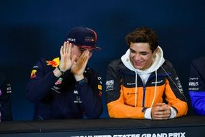 Press conference, Max Verstappen, Red Bull Racing and Lando Norris, McLaren