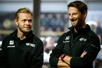 Kevin Magnussen, Haas F1 Team, and Romain Grosjean, Haas F1 Team