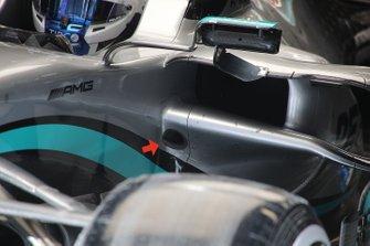 Mercedes F1 W11 mirror detail