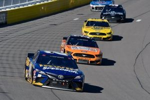 Erik Jones, Joe Gibbs Racing, Toyota Camry Irwin SPEEDBOR and Corey LaJoie, Go FAS Racing, Ford Mustang