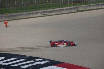 #363 Ferrari 488 Challenge, Cauley Ferrari of Detroit: Jay Schreibman, finisce fuori pista