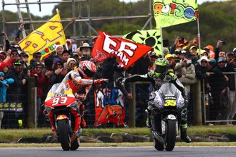 Race winner Marc Marquez, Repsol Honda Team, Cal Crutchlow, Team LCR Honda