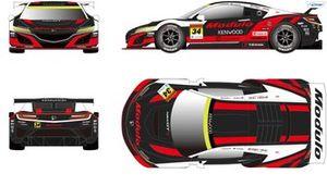 #34 Modulo KENWOOD NSX-GT(2020 Livery)