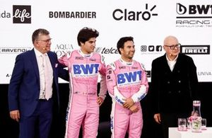 Otmar Szafnauer, Lance Stroll, Racing Point, Sergio Perez, Racing Point, Andreas Weissenbacher